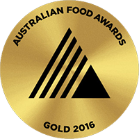 Australian Food Award - Gold - 2016