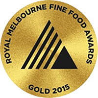 Royal Melbourne Fine Food Awards Gold 2015