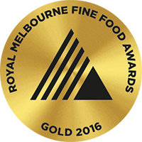 Royal Melbourne Fine Food Award - Gold - 2016
