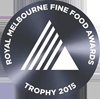 Royal Melbourne Fine Food Awards Trophy 2015