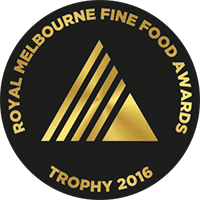 Royal Melbourne Fine Food Award - Trophy - 2016